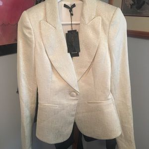 Rachel Zoe Suzanne Single-Button Lapel Blazer